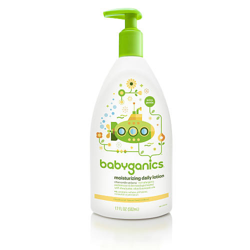 Babyganics Moisturizing Daily Lotion- Chamomile Verbena- 17 Ounce Pump Bottle