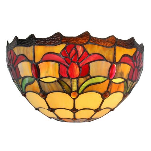 Amora Lighting Tiffany Style Tulips Design Wall Sconce Lamp