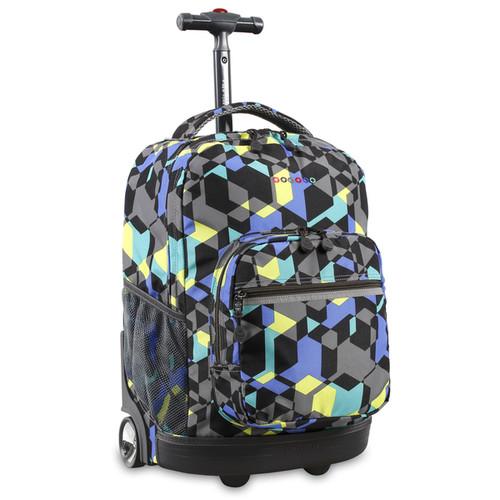 J World Sunrise Cubes 18-inch Rolling Backpack