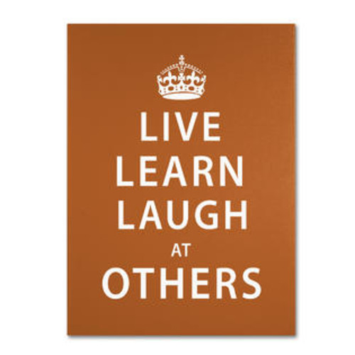 Trademark Global Laugh at Others II by Megan Romo Textual Art on Wrapped Canvas Size: 19