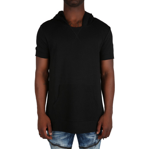 The Boss Short Sleeve Hoodie in Black