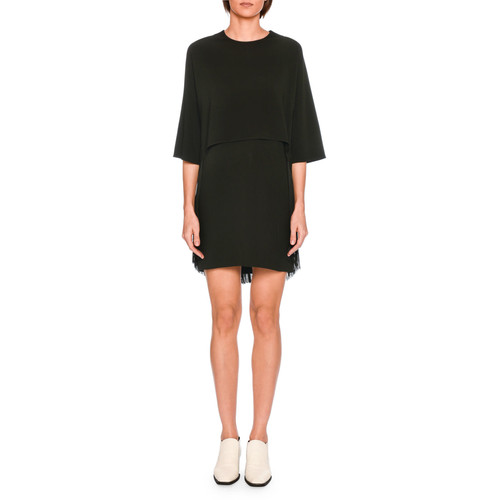STELLA MCCARTNEY Georgia Tromp L'Oeil Fringe Dress, Black