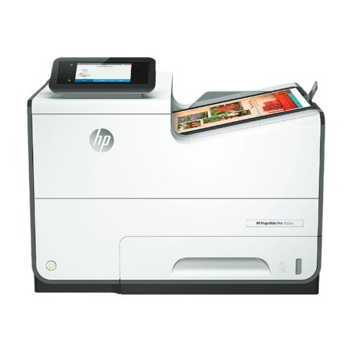HP Inc. PageWide Pro 552dw - Printer - color - Duplex - page wide array - A4/Legal - 1200 x 1200 dpi - up to 70 ppm (mono) / up to 70 ppm (color) - capacity: 500 sheets - USB 2.0, LAN, Wi-Fi(n), NFC, USB 2.0 host (D3Q17A)