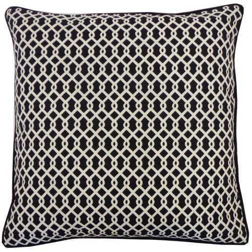 Grid Outdoor Pillow Black