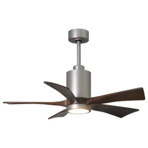 Patricia 5-Blade LED Ceiling Fan [Fan Blade Span (inches) : 42; Finish : Brushed Nickel]