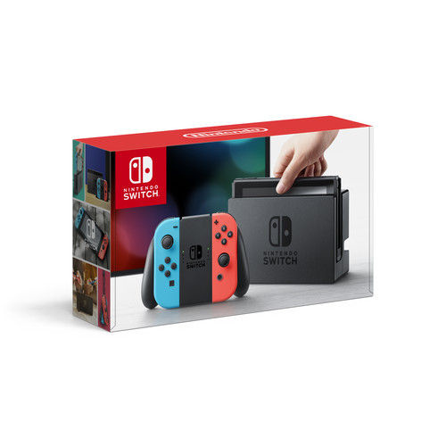 Nintendo Switch Console With Neon Blue and Neon Red Joy-Cons