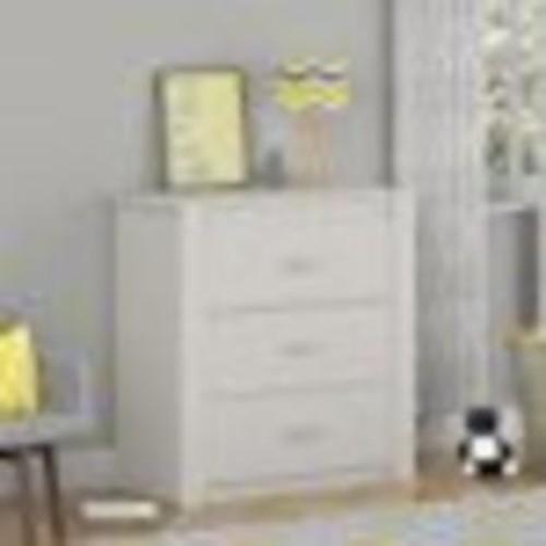 Cosco Riley Classic 3-Drawer Bedroom Dresser, White