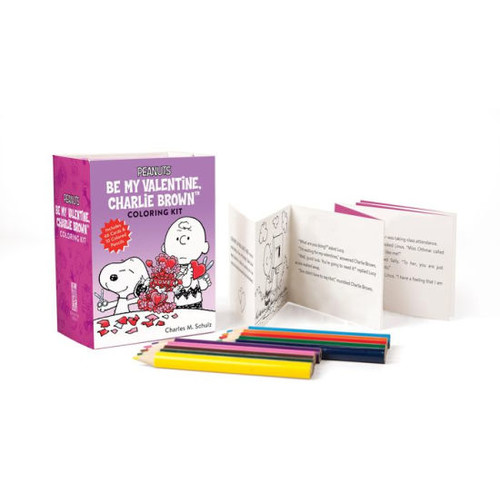 Peanuts: Be My Valentine, Charlie Brown Coloring Kit