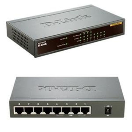 D-Link 8-Port Ethernet Switch with PoE - 8 x 10/100Base-TX LAN