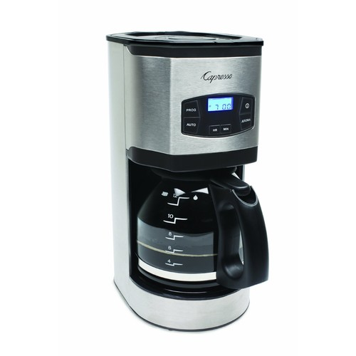Capresso 494.05 12-Cup Stainless Steel Coffee Maker SG120, Stainless/Black [Gray, None]