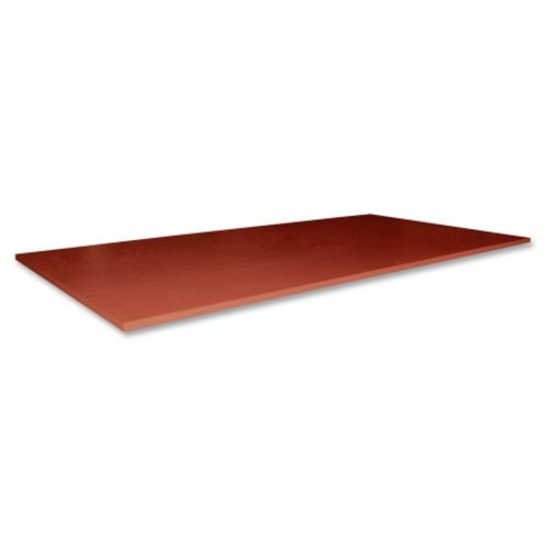 Lorell Essentials Series Cherry Conference Table - Rectangle Top - Panel Leg Base - 2 Legs - 70.88