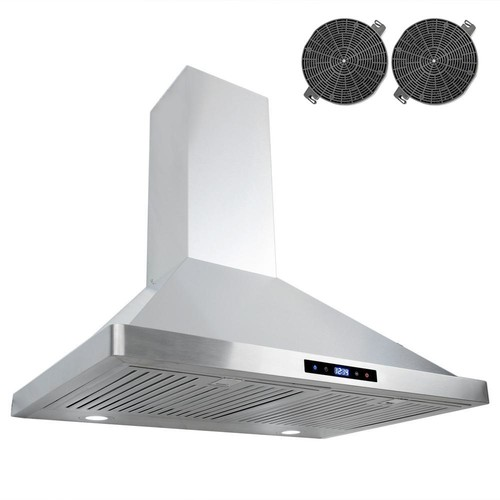 Cosmo 30 in. Ductless Wall Mount Range Hood in Stainless Steel with LED Lighting and Recirculating Filter Kit
