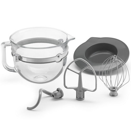 KitchenAid 6 qt. Glass Bowl with Lid and Mixing Tools