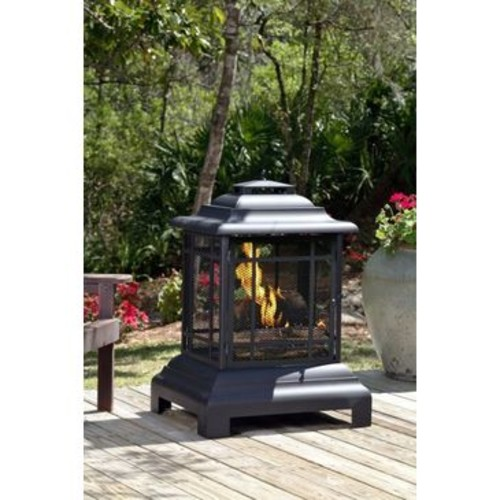 Well Traveled Living Rectangle Pagoda Patio Fireplace