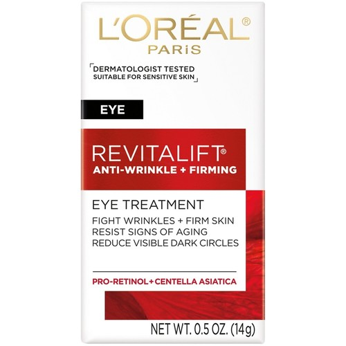 L'Oreal Paris RevitaLift, Anti-Wrinkle + Firming, Eye Treatment, 0.5 oz (14 g)