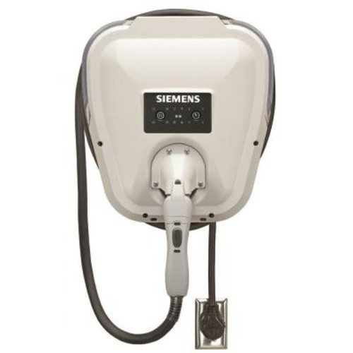 Siemens VersiCharge Gen 2 30 Amp Indoor/Outdoor Electric Vehicle Charger Plug-In Bottom/Rear Fed with 20 ft. Cord