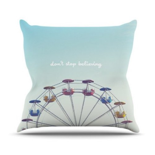 KESS InHouse Dont Stop Believing Throw Pillow