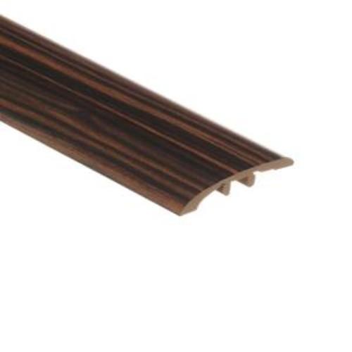 Zamma Rosewood Ebony 1/8 in. Thick x 1-3/4 in. Wide x 72 in. Length Vinyl Multi-Purpose Reducer