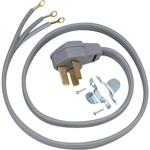 GE - 40-Amp Power Cord for Most GE Electric Ranges - Gray