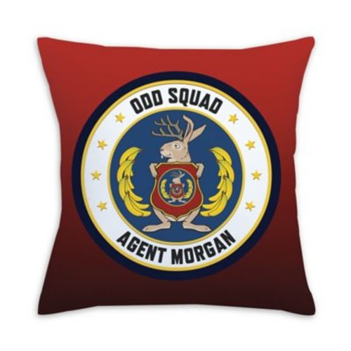Odd Squad Headquarters Seal Square Throw Pillow in Red