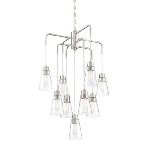 Designers Fountain Echo 9-Light Satin Platinum Chandelier