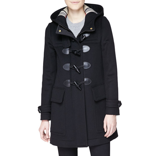 BURBERRY BRIT Finsdale Hooded Duffle Coat W/ Toggles