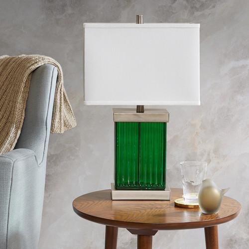 Madison Park Emerald Table Lamp