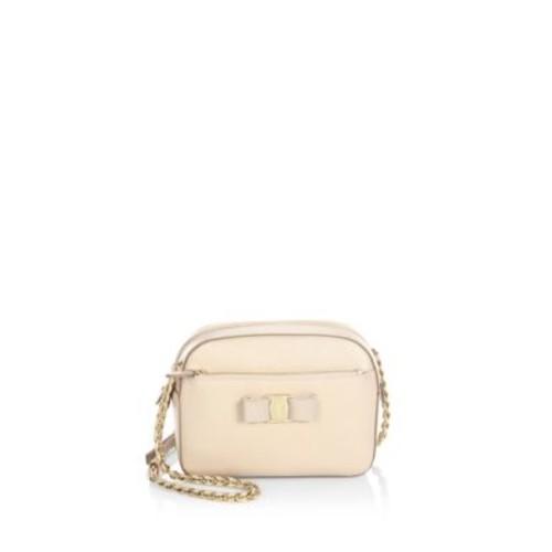 SALVATORE FERRAGAMO Vara Small Lydia Leather Crossbody Bag