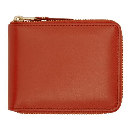 COMME DES GARÇONS WALLETS Orange Classic Zip Wallet