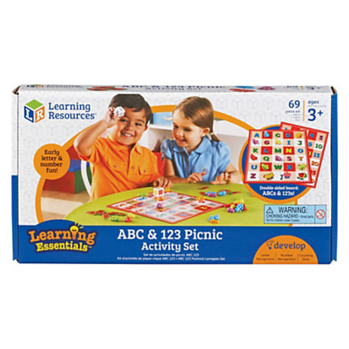 Learning Resources ABC 123 Picnic Board Activity Set - Theme/Subject: Learning - Skill Learning: Letter Recognition, Number Recognition, Counting, Problem Solving, Color Identification - 3-7 Year