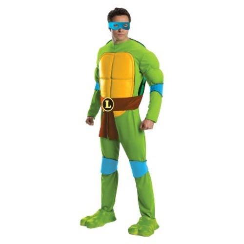 Teenage Mutant Ninja Turtles Men's Deluxe Leonardo Costume OSFM