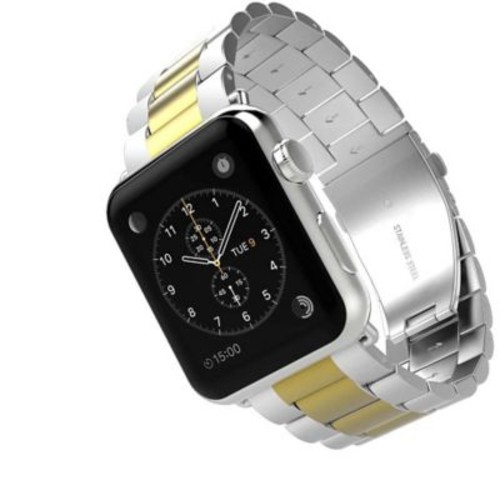 iPM Classic Buckle Watch Band for Apple Watch 38mm -Gold/Silver (APWABKL38GOSI)