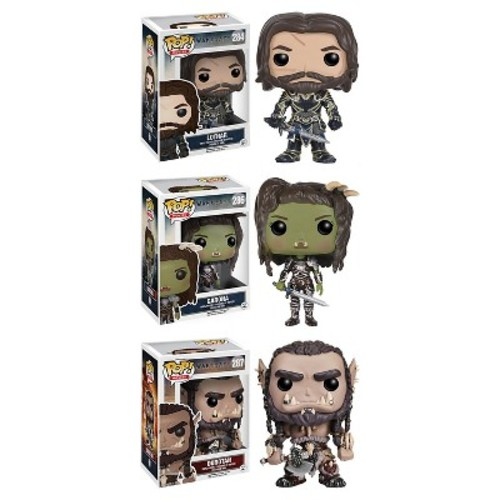 Funko - Warcraft POP! Movies Collectors Set: Lothar, Garona and Durotan