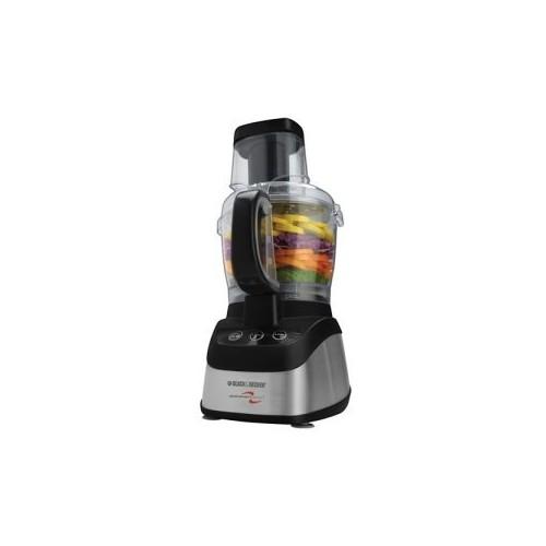 Black & Decker FP2620S Wide-Mouth Food Processor & Blender, Black/Silver