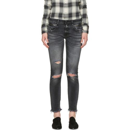 R13 Black Biker Boy Jeans