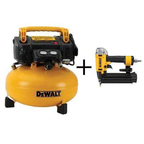 DEWALT 6 Gal. Portable Electric Air Compressor with Bonus Brad Nailer