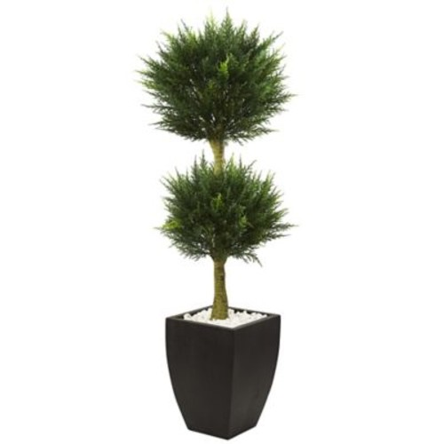 Nearly Natural Cypress Topiary in Planter
