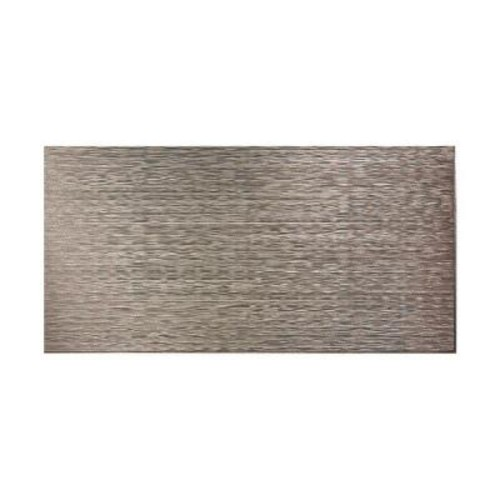 Fasade Ripple Horizontal 96 in. x 48 in. Decorative Wall Panel in Galvanized Steel