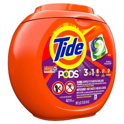 Tide PODS Spring Meadow Laundry Detergent Pacs - 42 Count