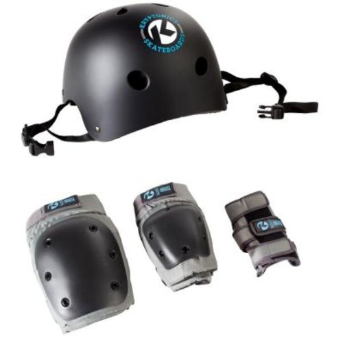 Kryptonics 4-in-1 Adult Pad Set with Helmet