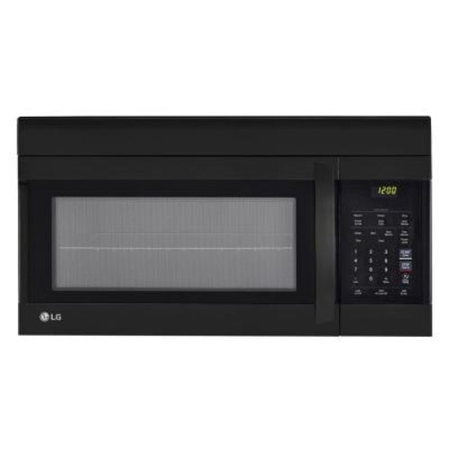 LG Electronics 1.7 cu. ft. Over the Range Microwave Oven in Black with EasyClean Interior