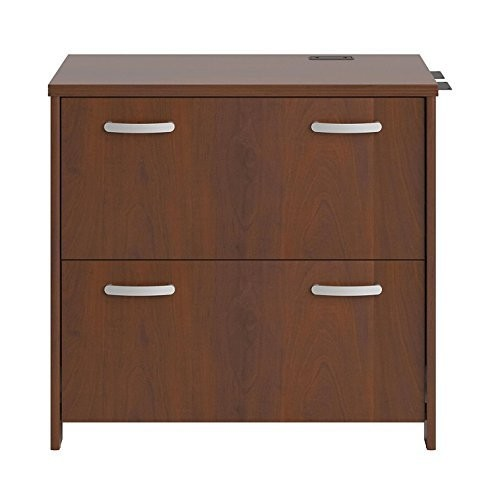 Bush Furniture Envoy 32W 2 Drawer Lateral File Cabinet in Hansen Cherry