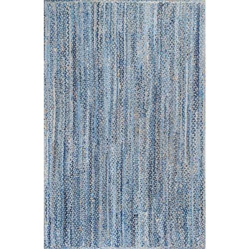 nuLOOM Otelia Denim and Jute Blue 7 ft. 6 in. x 9 ft. 6 in. Area Rug