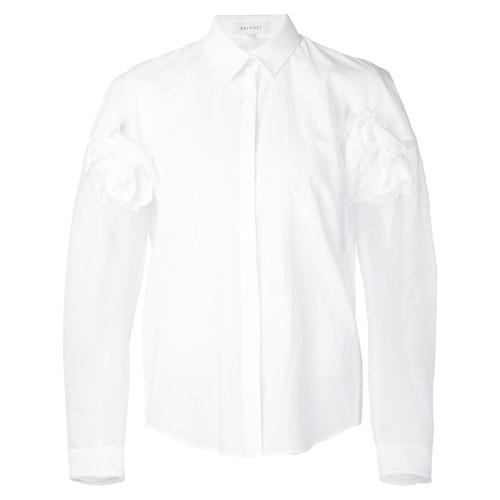 DELPOZO Flower Appliqué Shirt