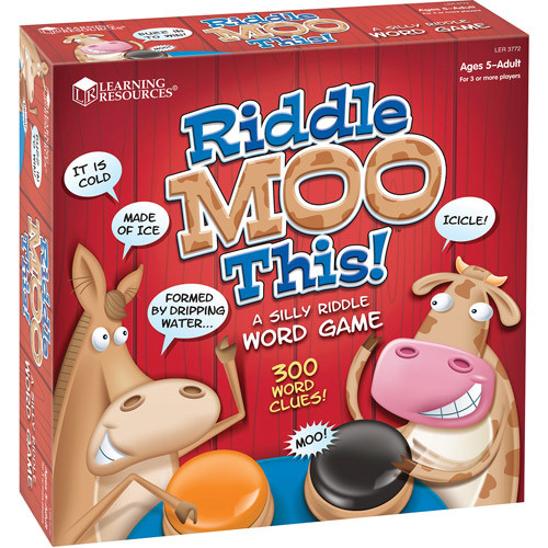 Learning Resources Riddle Moo This - A Silly Riddle Word Game