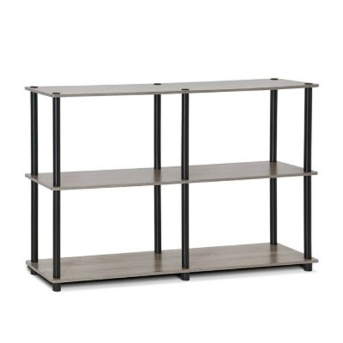 Furinno Turn-N-Tube 3-Tier Double Size Storage Display 30'' H Shelving Unit