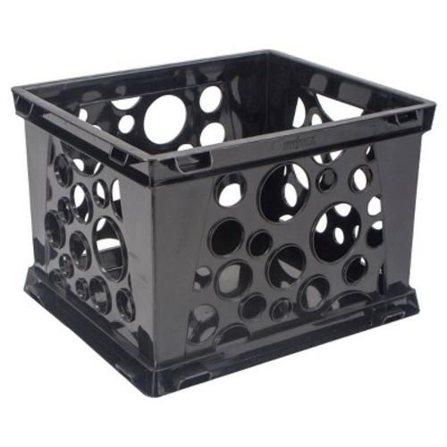 Storex 1466435 Mini Stackable Storage Crate, 9