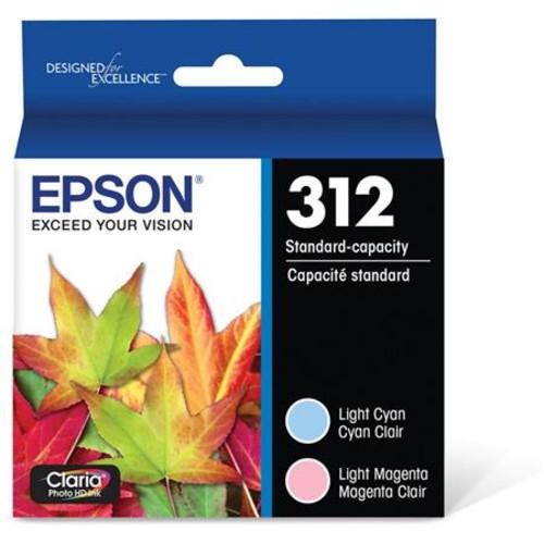 Epson T312 Claria Standard Capacity Ink Cartridge,2 Pack,Light Cyan/Light Magent