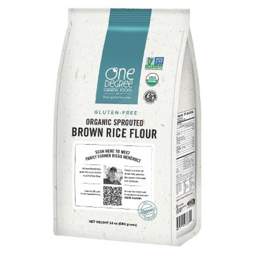 One Degree Organic Foods Sprouted Brown Rice Flour - 24oz