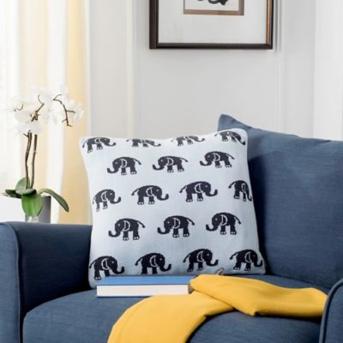 Harriet Bee Dolla Baby Elephant Throw Pillow; 20 x 20